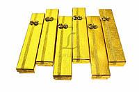 Подарочные коробочки для бижутерии с бантиком Viburnum золотистые, 21x4x2см, коробочки для бижутерии,