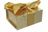 Набор итальянских подарочных коробок Agathis золото, 13.5х10х6см, 2шт, подарочная упаковка, коробка для