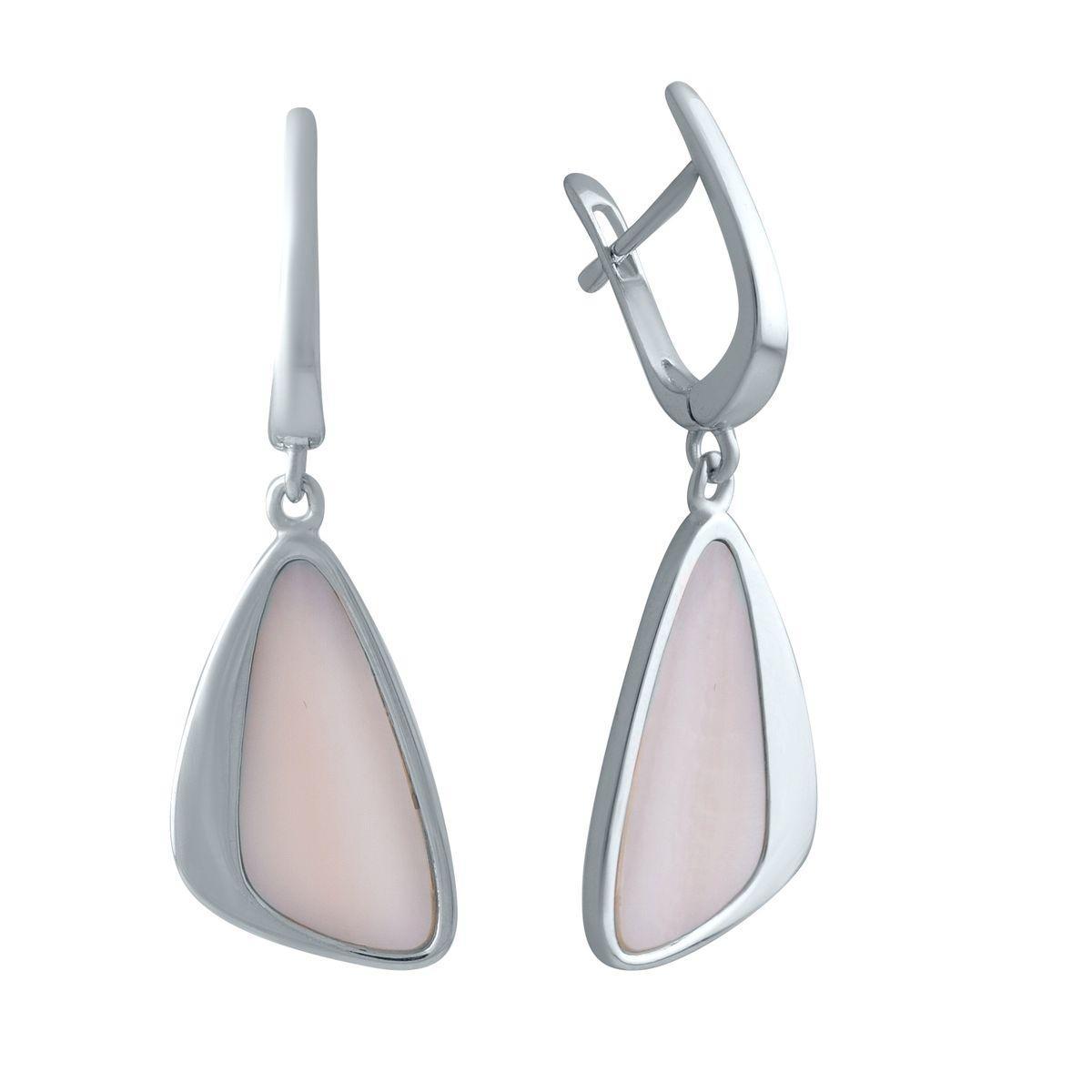 Серебряные серьги DreamJewelry с натуральным перламутром (2005476)