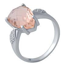 Серебряное кольцо DreamJewelry с морганитом nano (2021377) 18.5 размер