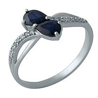 Серебряное кольцо DreamJewelry с натуральным сапфиром (2008996) 17 размер, фото 1