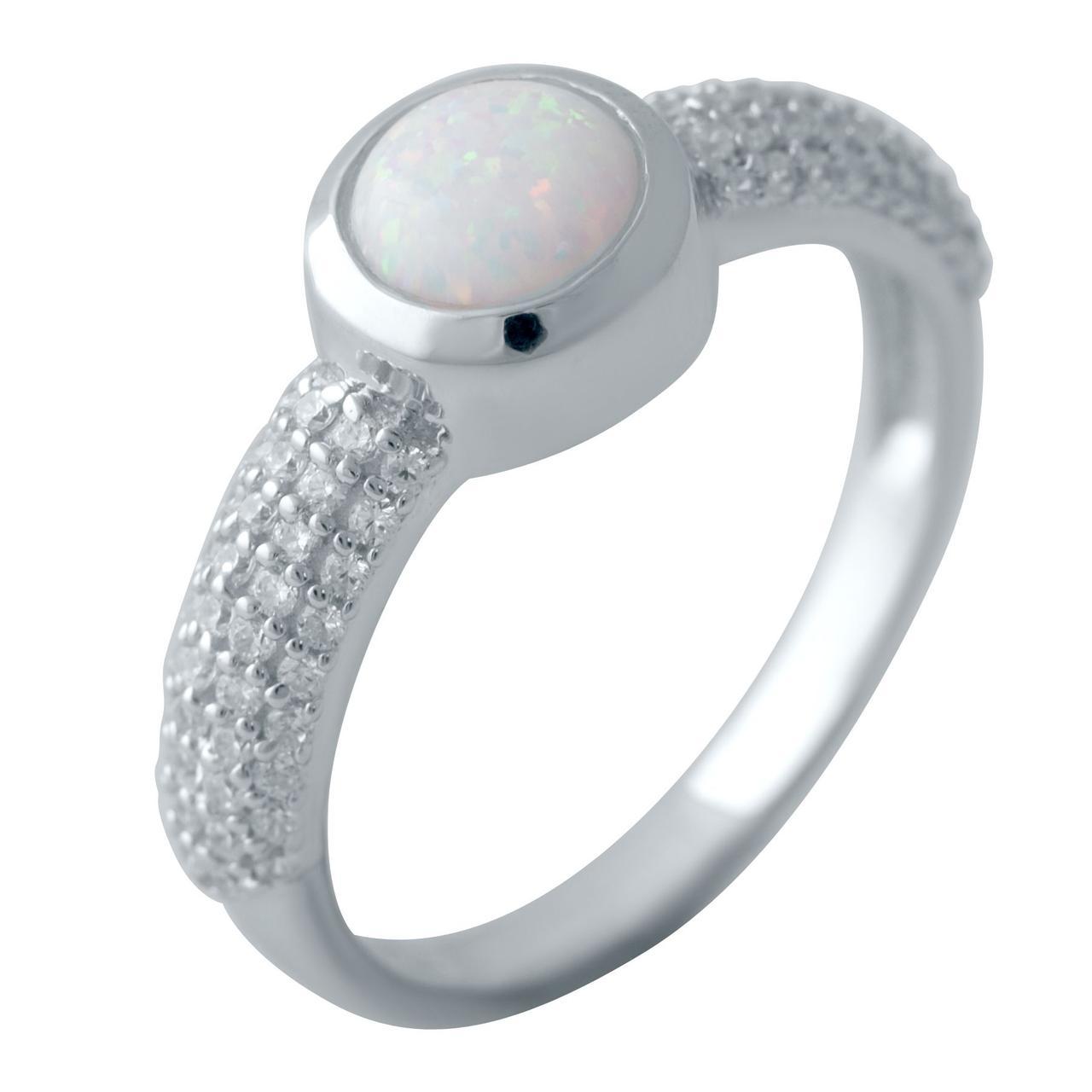 Серебряное кольцо DreamJewelry с опалом (2040774) 17.5 размер