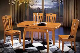 Стол кухонный обеденный раскладной Микс Мебель Мирта (ШхГ - 1000(+300)х800 мм)