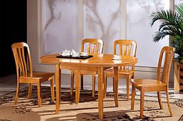 Стол кухонный обеденный круглый раскладной Микс Мебель Ирис (ШхГ - 1000(+350)х1000 мм)
