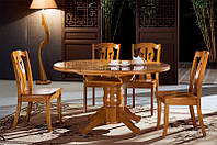 Стол кухонный обеденный круглый раскладной Микс Мебель Сакура NEW (ШхГ - 1000(+350)х1000 мм)