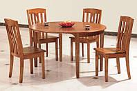 Стол кухонный обеденный раскладной Микс Мебель Глория (ШхГ - 750(+300)х1150 мм)
