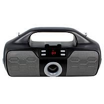 Колонка портативная Lesko YZS-M12 Grey Bluetooth 4.2 мощность 16 Вт TF/AUX/FM, фото 3