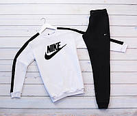 Спортивный костюм Nike (принт лого) свитшот и штаны унисекс