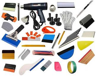 Разное (инструмент для поклейки пленки, химия, ракеля, выгонки)