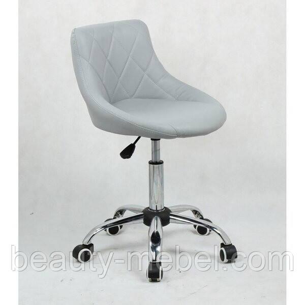 Кресло косметическое HC1054K на колесиках, серое