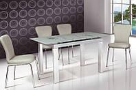 Стол кухонный обеденный раскладной стеклянный Микс Мебель Ирен (ШхГ - 1100(+400)х700 мм)