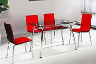 Стол кухонный обеденный стеклянный Микс Мебель Регина (ШхГ - 1200х700 мм)