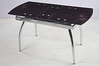 Стол кухонный обеденный раскладной стеклянный Микс Мебель Джес (Сити) (ШхГ - 1000(+200)х600 мм)