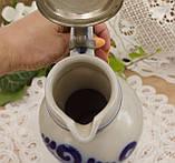 Колекційний керамічний глек з олов'яної кришкою, кераміка, Німеччина, 1,1 літра, фото 6