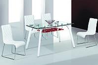 Стол кухонный обеденный стеклянный Микс Мебель Вегас (ШхГ - 1200х700 мм)