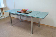 Стол кухонный обеденный раскладной стеклянный Микс Мебель Токио (ШхГ - 1000(+500)х800 мм)