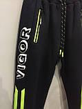 Теплые спортивные штаны для мальчика 134,158 см, фото 2