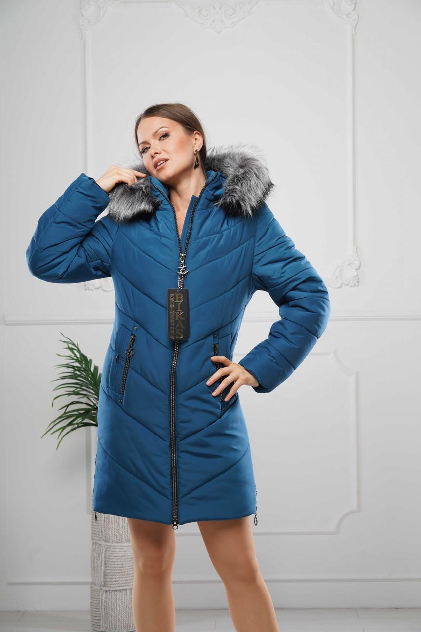 Зимние женские куртки  модные  44-58 пион мех