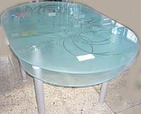 Стол обеденный для кухни из стекла