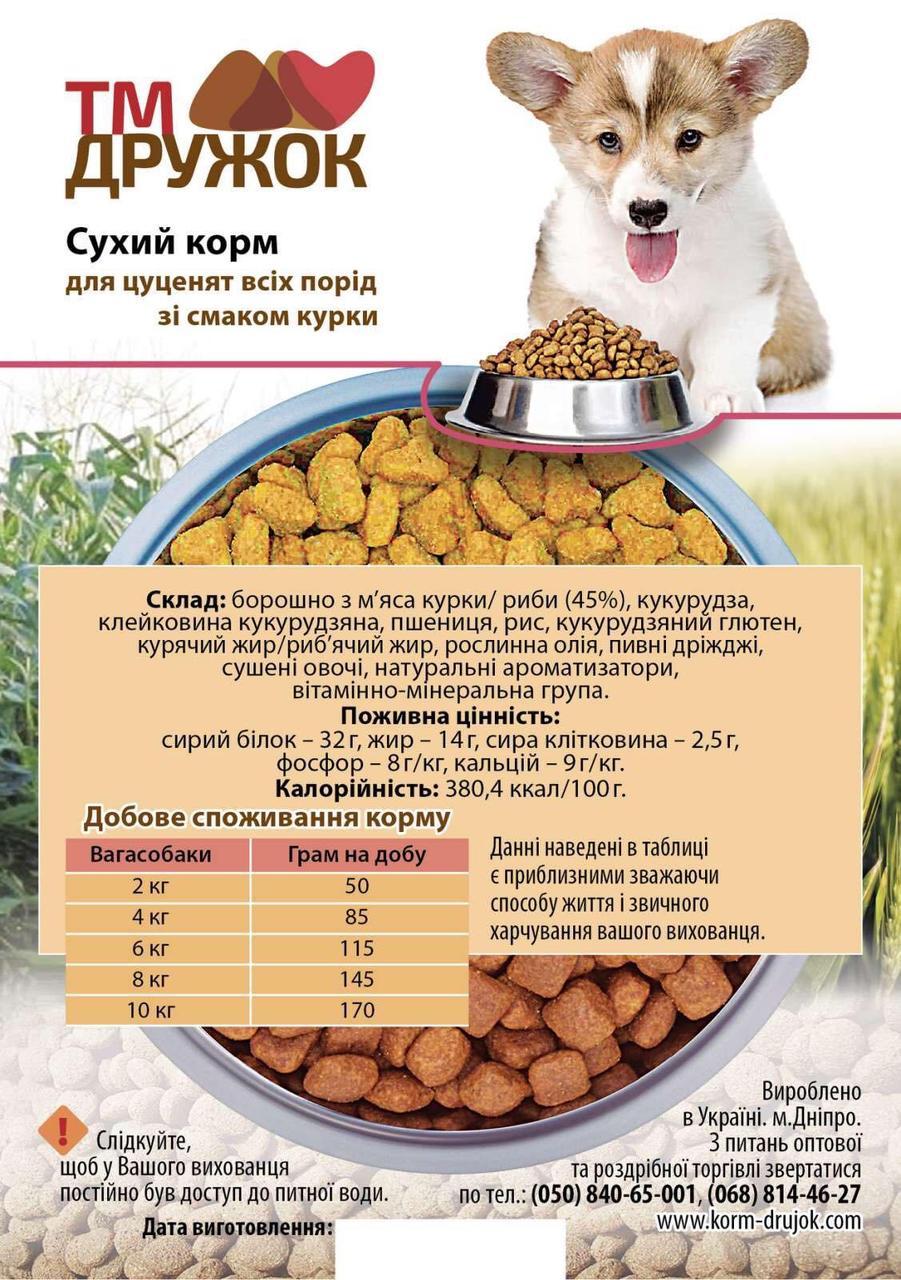 Собачий  сухой корм для щенков всех пород 5 кг