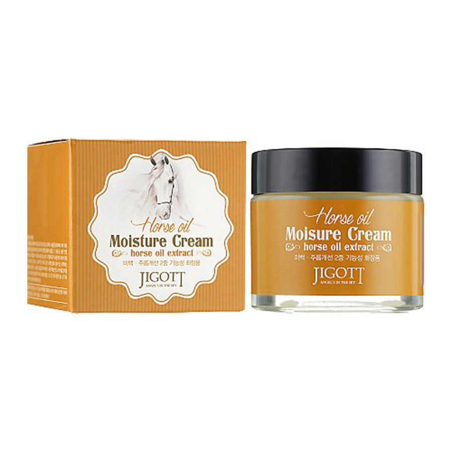Увлажняющий антивозрастной крем для лица с лошадиным маслом Jigott Horse Oil Moisture Cream 70 мл