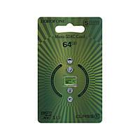 Карта памяти для техники Borofone MicroSDXC, 64ГБ, 10 класс, зеленый, карта памяти на 64Гб, карты памяти