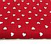 """Польская хлопковая ткань """"сердца мелкие белые на красном"""", фото 2"""