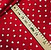 """Польская хлопковая ткань """"сердца мелкие белые на красном"""", фото 3"""