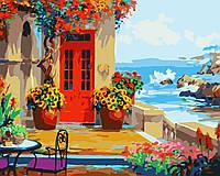 Картина Веранда с видом на море
