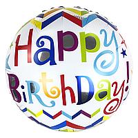 Фольгированный шар 32' Китай Happy Birthday, 80 см