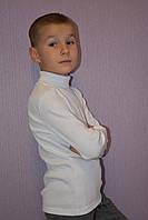 Белая водолазка для мальчика
