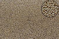 """Декоративна присипка """"Cleyera"""" для творчості, металік, коричнева, діаметр 0.6-0.8 мм, вага 250г, Присипка для"""