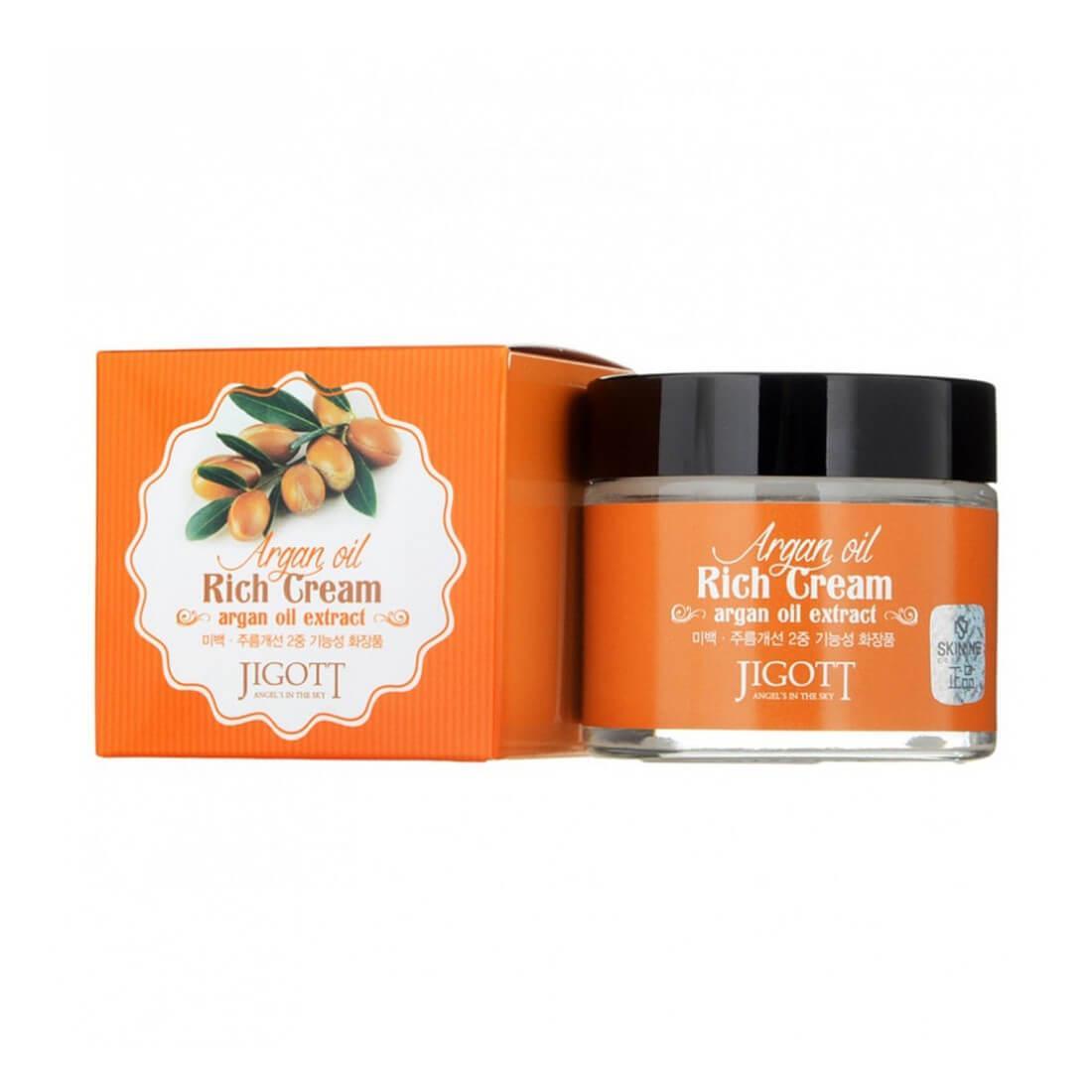 Питательный крем для лица с аргановым маслом Jigott Argan Oil Rich Cream 70 мл