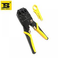 Ручной инструмент для обжимки Rj45 BOSI TOOLS клещи, желтые, обжимной инструмент, клещи, инструмент для обжима