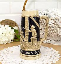 Коллекционный немецкий бокал для пива, пивная кружка, керамика, Германия, 1 литр
