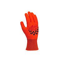 Перчатки автомобильные ХБ с черной ПВХ точкой Doloni красные 4111, фото 1