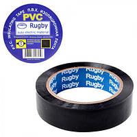 """Ізолента ПВХ 10м """"Rugby"""" чорна стрічка електроізоляційна, ізоляційна стрічка, ізоляційної стрічки"""