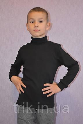 Черная водолазка для мальчика, фото 2