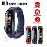 "Умный фитнес-браслет M3 Bluetooth, голубой, шагомер, 16МБ, водонепроницаемый, 0,96"", фитнес браслет, браслет"
