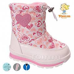 Дутики ТОММ 3875А Hearts white-pink 23-08