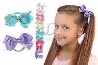 Дитячий гумка бантик для волосся з стрічок Allamanda 12шт, гумка для волосся, дитячі гумки для волосся