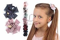 Дитячий гумка квітка для волосся з сітки Aglaia 12шт, гумка для волосся, дитячі гумки для волосся