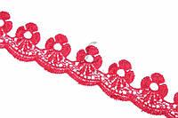 """Синтетическое кружево """"Anguloa"""" для декративной отделки, красное, длина 13.7м, Кружевная тесьма, Кружевная"""