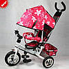 Велосипед детский трехколесный Profi Trike Stroller 0449 надувные резиновые колеса.