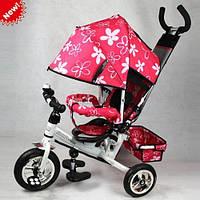 Велосипед детский трехколесный Profi Trike Stroller 0449 надувные резиновые колеса., фото 1