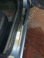 Защита порогов - накладки на пороги Ford FOCUS II 5-дверка с 2005-2010 (Premium)