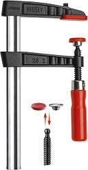 Классическая чугунная струбцина Bessey 300x80 с деревянной ручкой TG30B8