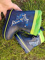 Резиновые сапоги  Biki 0376 Transformer blue-green  23-27, фото 3