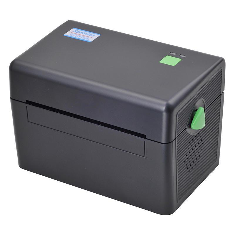 Принтер етикеток, термопринтер штрих кодів, QR кодів Xprinter XP-DT108B чорний USB (XP-DT108B)