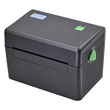 Принтер этикеток, термопринтер штрих кодов, QR кодов Xprinter XP-DT108B чёрный USB (XP-DT108B)